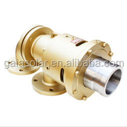 Thermal oil fluid pipeline connector pieces rotary joint