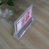 Custom design acrylic banknote frame wholesale/ plexiglass currency holder wholesale