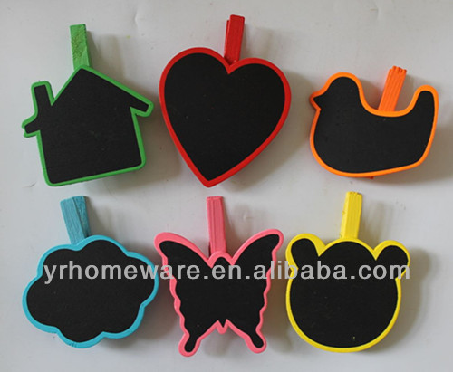 colorful mini blackboard & wooden clip for wedding ,party