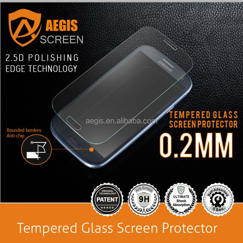 Mobile Phone Glass Screen protector Retailer for Samsung S5 S3 (I9300) S4 (I9500) S4