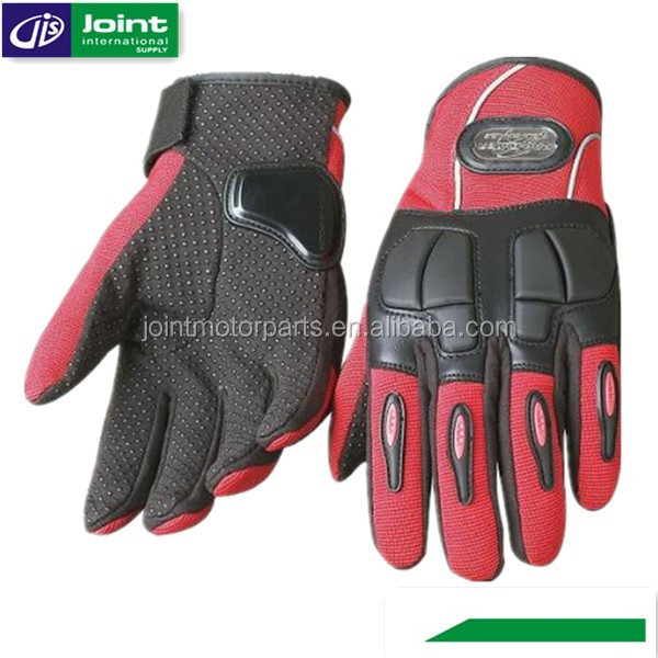 Ladies Motorbike Leather Gloves Red Leather Driving Gloves for Driving