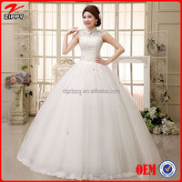 Wedding dress Floor-Length Sleeveless Natural Lace Up Multi Sizes More Color Simple Wedding Dresses