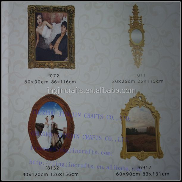 wall mounted antique resin picture frame