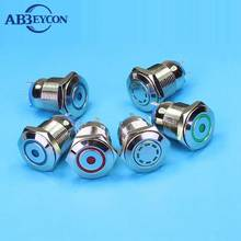 25mm Waterproof Stainless Steel Led Illuminated Pushbutton Switch