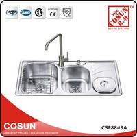 Double Bowl Sterilization Sink Kitchen Stainless Steel
