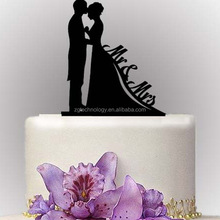 Personalized Wedding Cake Topper Mr & Mrs Bilayer Structure Wedding Decoration