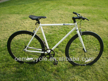 700C classic hot sale with white frame and all black rims specialized fixed gear bicycle wholesale