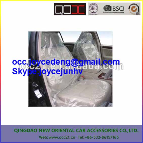 wholesale cheap white/clear color plastic disposable PE car seat cover