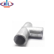 20mm size gi malleable iron threaded t connector pipe