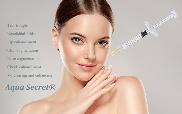 2018 new product Aqua Secret 2ml dermal filler HA injectable hyaluronic acid for anti wrinkle