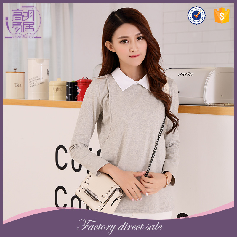 Wholesale Best Maternity Clothes Office Ladies Casual Wear Nursing Top
