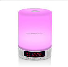 Super Bass white LED Wireless Speaker Portable Mini Light Speaker For Mp3 / Iphone / Ipad / Samsung