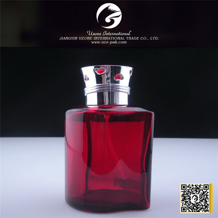 Glass Material and Personal Care Industrial Use perfume bottle color painted