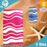 100% cotton velour high quality small quantity wholesale pink stripe towel