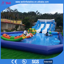 2016 new inflatable pool with slide / inflatable pool rental