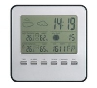 high quality remote garden thermometer / hygrometer / weather station / clock/calendar 2014 S008B