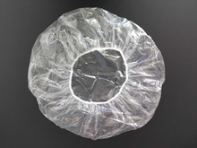 PE ear plastic disposable shower cap for hotel and beauty