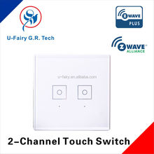Low cost luxury style magic white 2 gang 2 way light switch for wireless control