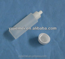 small plastic contact lens solution bottle
