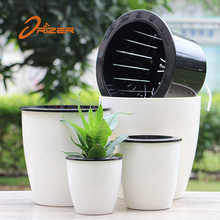 Factory wholesale free sample garden plant containers self watering plant pots for sale