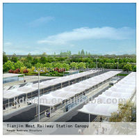 Tensile Awnings for Railway Station Parking Canopy