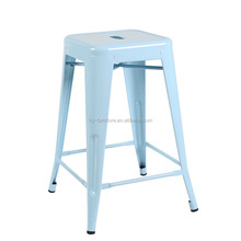 Cheap vintage stacking metal bar stool, tall bar stools, HYX-504A
