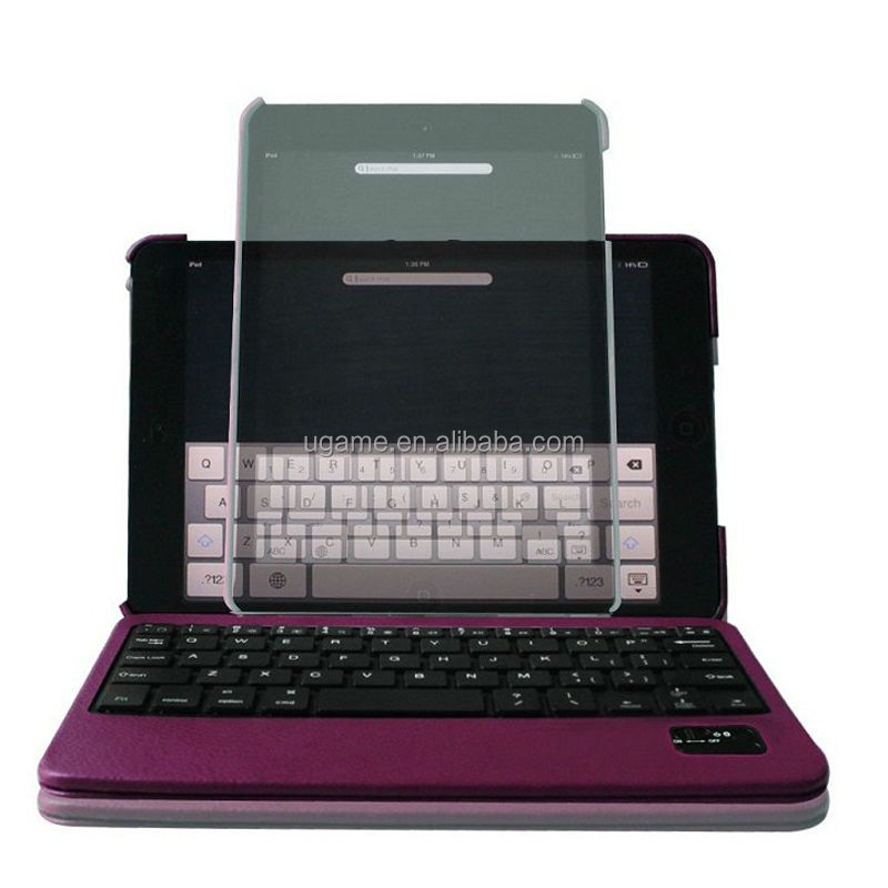 Deluxe 360 Degree Rotating Leather Case Cover Bluetooth Keyboard for iPad Mini