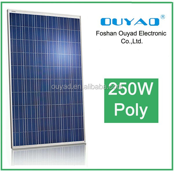 High quality solar modules 30.8v/24V solar panels 250W 255w 260W 265w polycrystalline for home High Efficiency Poly 250w
