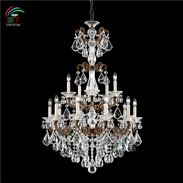 zhongshan antique bronze crystal chandelier for wedding tent