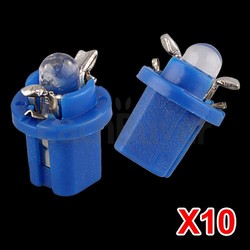 10 X T5 Blue LED Car Gauge Dash Speedo Dashboard Light Bulb Lamp