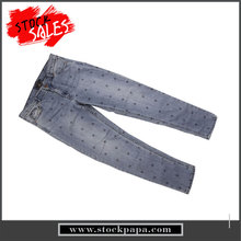Branded name stocks high quality ladies fancy jeans denim pants