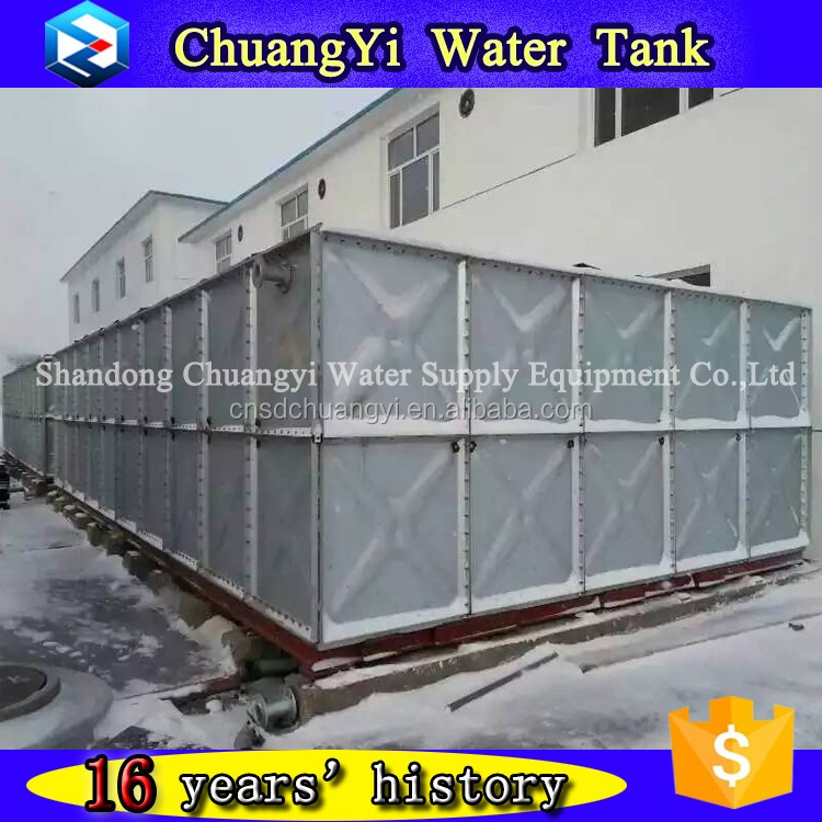 2017 trending products square galvanized farm water tank with low price