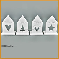 high quality white ceramic christmas village houses