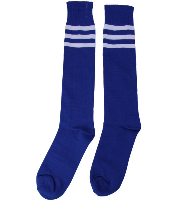 2016 Striped Classic Design Sport Over Knee Pure Cotton Soccer Socks
