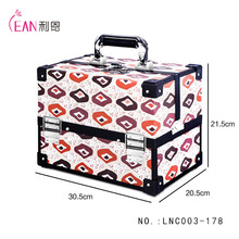 cheap crystal display portable aluminum nail polish cases for cosmetic makeup