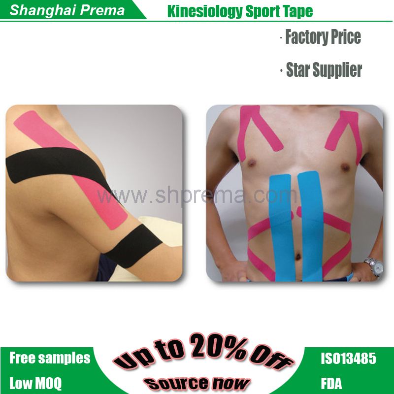 Low price new products kinesiology tape sports muscle tape Good quality hot selling superb oem rainbow porous muscle tap
