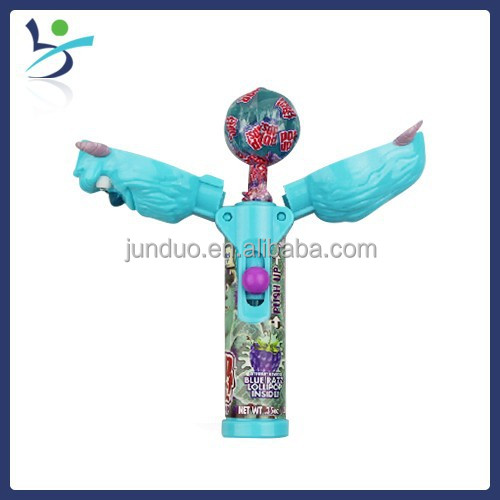 candy toy lollipop monsters figure candy dispenser push pop
