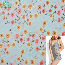 Beautiful floral print fabric stretch spandex nylon underwear fabric lingerie sportswear fabric