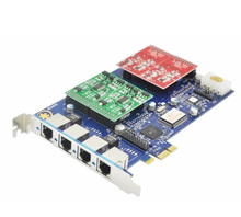 Analog card,PCI Express interface,digium card Asterisk card AEX410 PCI-E 4 FXO FXS