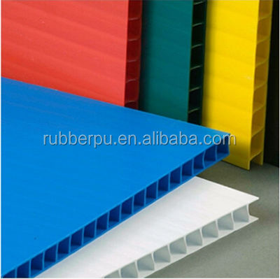 Polypropylene PP Twin Wall Fluted Plastic Sheet / Board