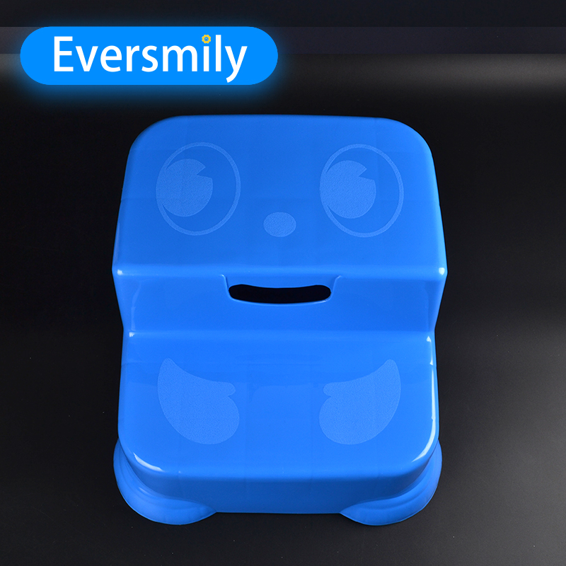 Bathroom Anti Slip Step Ladder Stool for Kids PP Plastic Cartoon Face Shape Step Stool