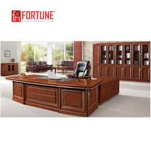I Shape antique design wooden furniture showcase and office desk and chair set (FOH-A9B321)