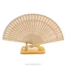 Vintage Folding Bamboo Hand Fans Wooden Hollow Carved Wedding Dancing Bridal Party Decor Fragrant Sandalwood Fan