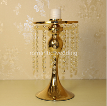 2017 beautiful gold chandelier candle holder flower stand ornaments wedding centerpiece