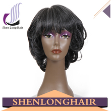 Grey Hair Wig Synthetic Hair Wig Short Curly Wigs For Black Women