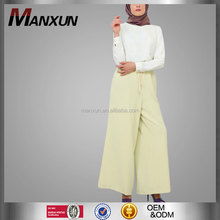 Latest Design Adults Age Group and Long Shalwar Kameez Design Muslim Clothing Collection High Waisted Maxi Trousers
