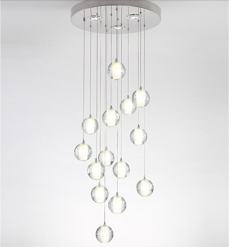 Factory Price Crystal Large Hotel lobby Modern LED Rain Drop Chandelier Lights