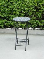 Mosaic metal planter stand foldable