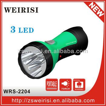 Plastic rechargeable LED flashlight (low cost)