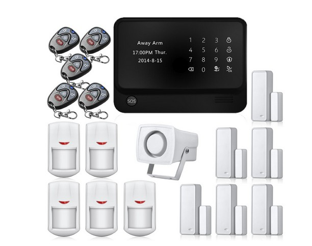 app control touch panel burglar <strong>alarm</strong> wifi gsm for home safety